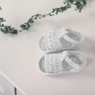 Sandalia para bebé hecha a mano 100% algodón