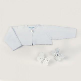 Chaqueta Nunu 100% algodón de manga larga en blanco
