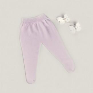 Polaina Básica para bebé de punto color rosa