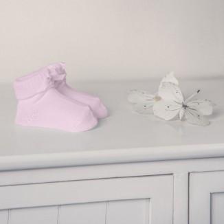 Patucos color liso de punto en algodón 100%. Color rosa