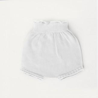 Braguita cubre pañales de punto en algodón 100% blanco