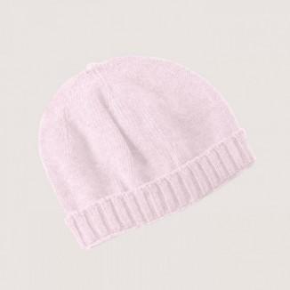 Gorro rosa para bebé básico 100% algodón de punto con lazo