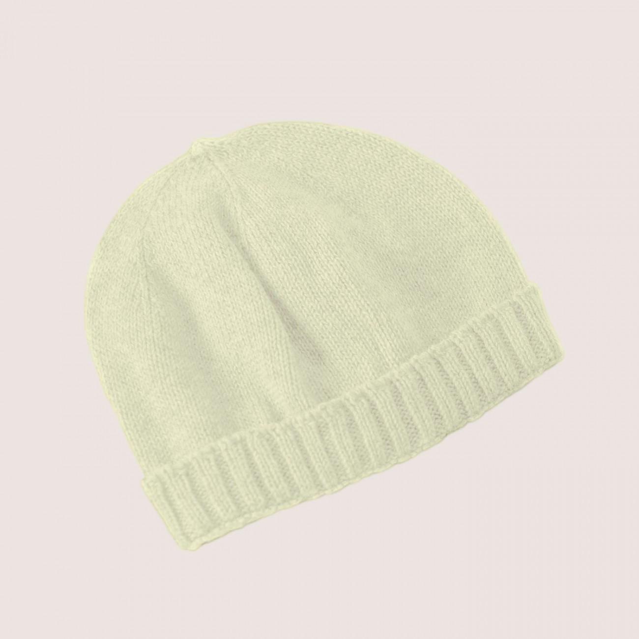 Gorro básico crudo 100% algodón con lazo a tono