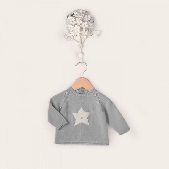 Jersey modelo Star de manga larga en color perla