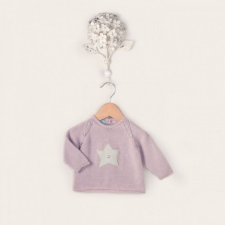 Jersey Star de manga larga punto de algodón 100%