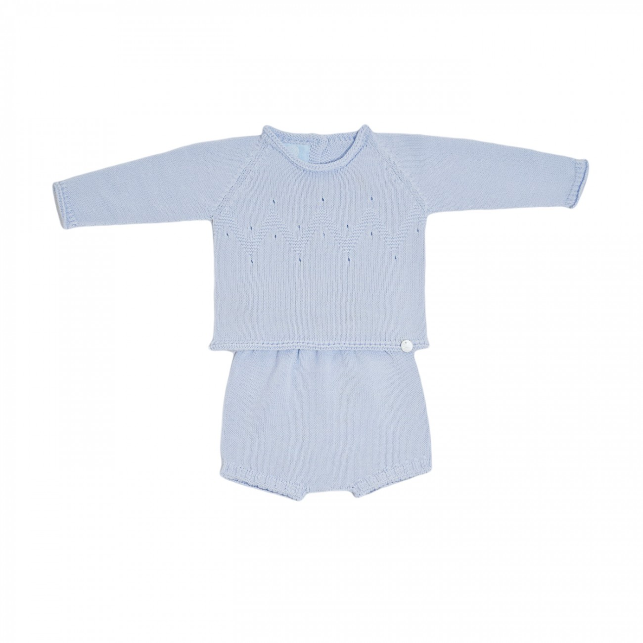 Jersey Aliso y braguita de algodón azul celeste