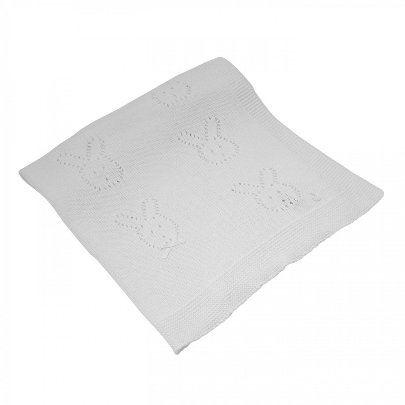 Manta blanca Haya de algodón