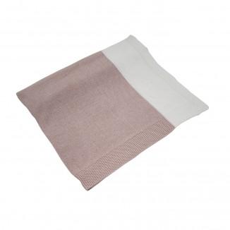 Manta algodón Xip en blanco y rosa maquillaje