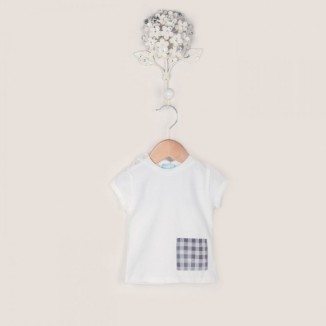 Camiseta House en color blanco con bolsillo