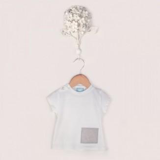 Camiseta manga corta Classic con bolsillo de tejido Oxford
